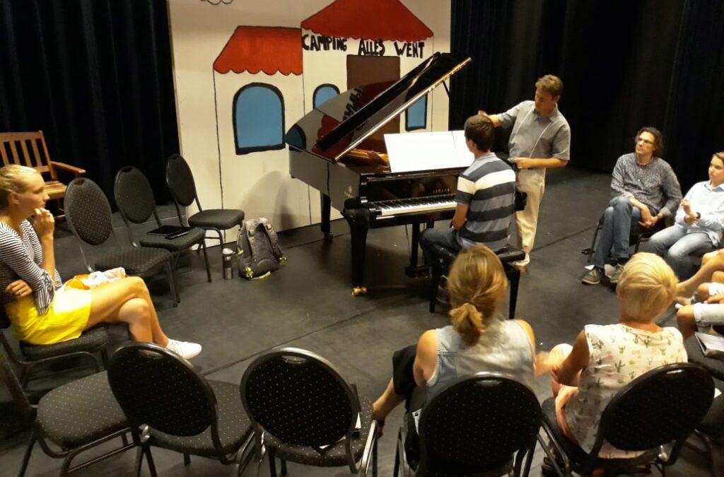 Amerikaanse concertpianist verzorgde masterclass