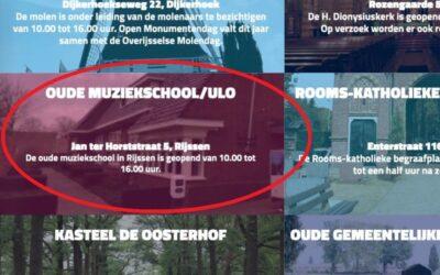 Oude Muziekschool opengesteld op Monumentendag
