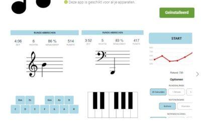 Noten oefenen via de app