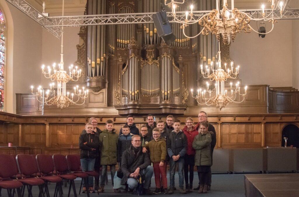 Orgelleerlingen op excursie naar Enschede