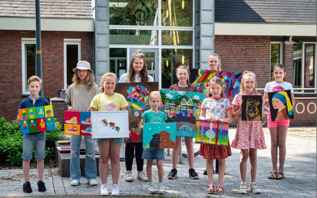 Jonge kunstenaars exposeren